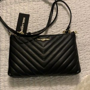 Textured black Karl Lagerfeld Paris purse - NEW !